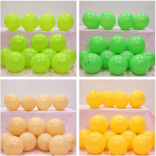 5pcs 12inch 5inch Inflatable Green Confetti Balloons Ball Baby Shower Latex Clear Birthday Balloons Decorations Kid Party Favors(China)