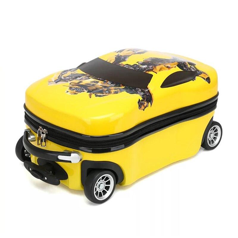 Valise de chariot d'enfants sur des roues les garçons et les filles d'école primaire peuvent monter le bagage de voyage polyvalent de sac de chariot-in Transporter-Ons from Baggages et sacs    3