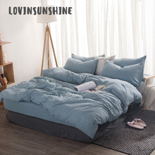 LOVINSUNSHINE Bed Linen Set Sheet And Pillowcase Mixed Color High Quality Comforter Bedding Sets King AB#116