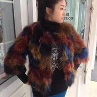 Rabbit Fur Vest Direct Selling Solid Elegant Winter Clothes In 2018 Color, Qiu Dong Women's Short sleeved Coat Real Raccoon