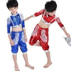 Детская блестками Современный Джаз Танцы костюм костюмы Обувь для девочек Обувь для мальчиков Костюмы для бальных танцев вечерние