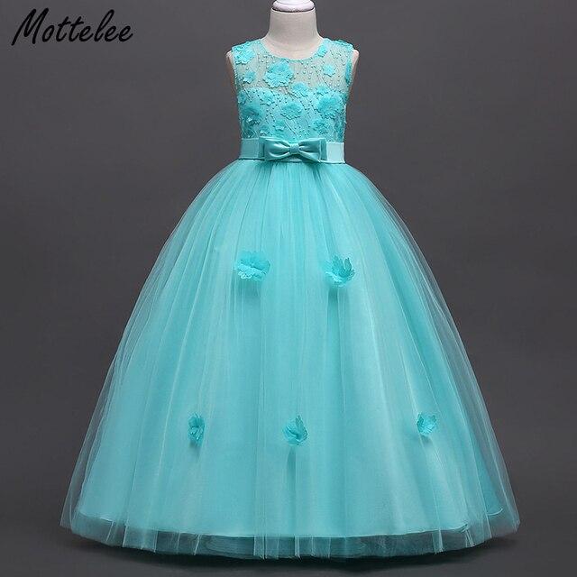 Mottelee Teenage Girls Dress Kids Wedding Party Dresses Flower Big ...