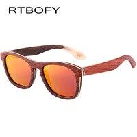 RTBOFY Wooden Sunglasses Women 2017 Multi layer Bamboo Polarized Sunglass Wood Brand Designer UV400 Eyewear Sun Glasses