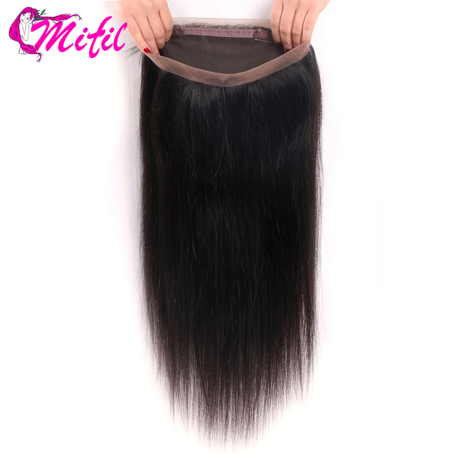 Mifil 360 Lace Frontal Closure Indian Straight With Baby Hair Non Remy