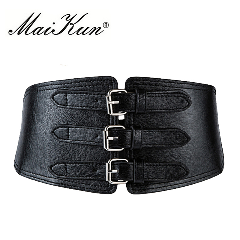 Maikun Wide Belts For Women Belt PU Leather Belt Corset Designer Brand