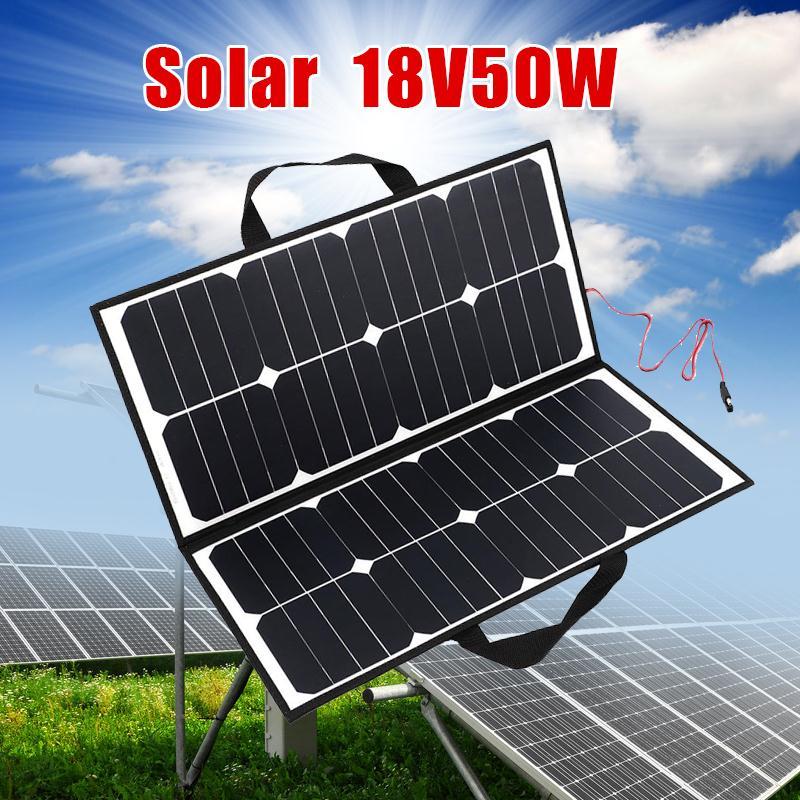 Chargeur de panneau solaire pliant imperméable portatif extérieur de Camping de 50 W 18 V pour l'outil extérieur de Camping de Covenience de batterie