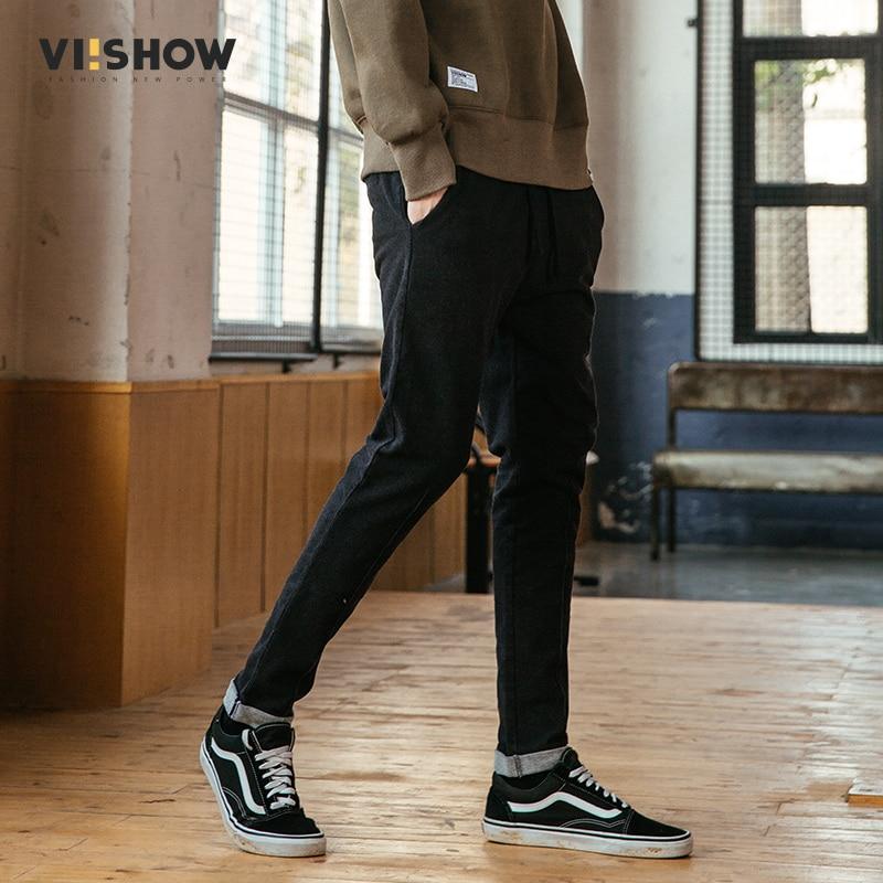 Viishow nieuwe casual broek heren lange jurk broek hombres merk - Herenkleding