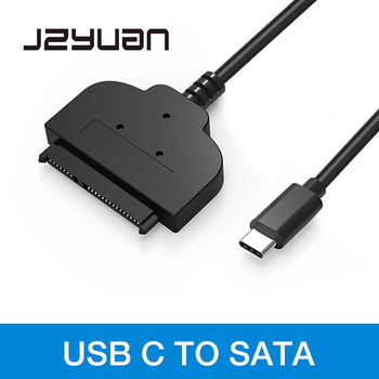 JZYuan USB-C USB 3.1 Type C To SATA 22pin Cable Type-C Cable Adapter External HDD 2.5″ Hard Drive Disk Converter For Macbook