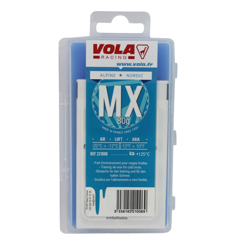 VOLA Alpien snowboard and Nodic waxes for use in different kinds of snow Made in France vola ski snowboard training wax 500g red block waxes ideal for ski clubs junior racing training intermediate snow temperature