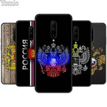 Silicone Phone Case for Oneplus 7 7 Pro 6 6T 5T Soft Cover Shell for Oneplus 7 7Pro Russia Coat of arms eagle flag Black Case