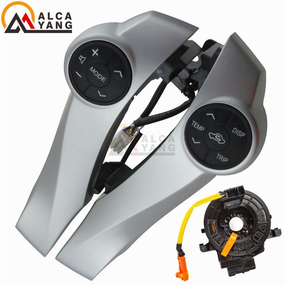 Boutons de commande argentés de volant avec des câbles pour des boutons de voiture de Toyota Prius/Prius C/Aqua