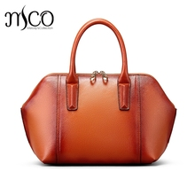 Genuine Leather Bags Ladies Designer Handbags High Quality Shoulder Crossbody Bag Women Vintage Tote Bag Shell top-handle bags
