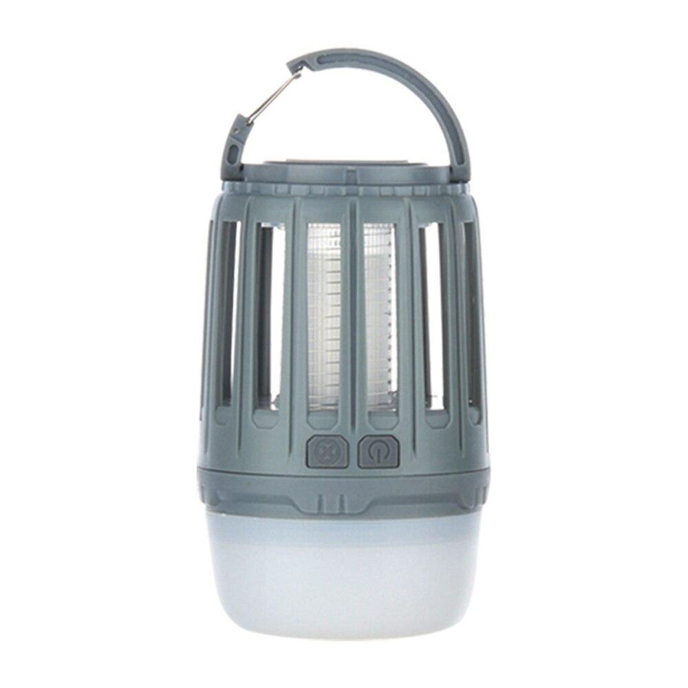 Светодиодный Электрический фонарь от комаров, светильник, Ночной светильник, Анти Москитная Ловушка-Отпугиватель США/ЕС, походный светильник, 8 типов - Цвет: grey