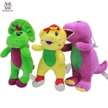 Rumena zelena vijolična dinozavra Barney plišaste igrače risana lutka Polnjene igrače
