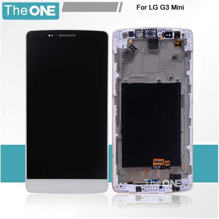 ФОТО 100% New For Lg Optimus G3 Mini D722 D724 Lcd Display Screen And Touch Digitizer With Frame Assembly Replacement Parts