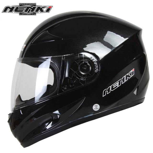 NENKI Motorcycle Helmet Moto Motocross Helmet Motorcycle Full Face Riding Helmet Casco Men Moto Motorbike Capacete Black