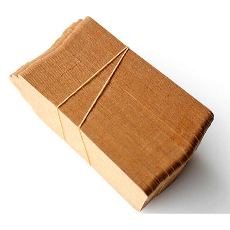 100 piezas 5x3cm etiquetas de papel Kraft marrón de encaje calado cabeza etiqueta equipaje boda nota DIY en blanco precio artesanía de regalo con etiqueta colgante de nombre