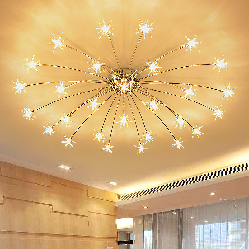 US $91.8 31% OFF|Modern Star Chandeliers for Living room Bedroom Kids room  chandeliers indoor house girls room chandelier moon lighting fixtures-in ...