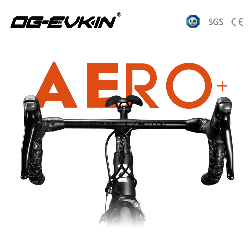OG EVKIN HB 001 AERO One Piece Handlebar 28 6MM Integrated Handlebar Matt Road Handlebar 400