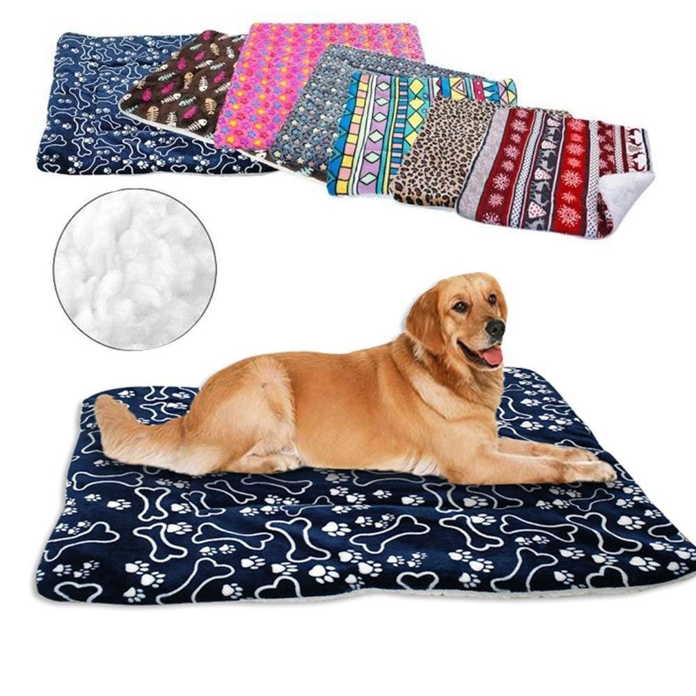 Winter Dog Bed Blanket Soft Fleece Pet Sleeping Bed Cover Mats Warm Sofa Cushion Mattress For Small Large Dogs Cats Cama Perro mattress