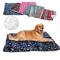 Manta de cama de perro de invierno suave paño grueso y suave para mascotas fundas de cama colchoneta de sofá cálido para perros pequeños y grandes gatos cama Perro