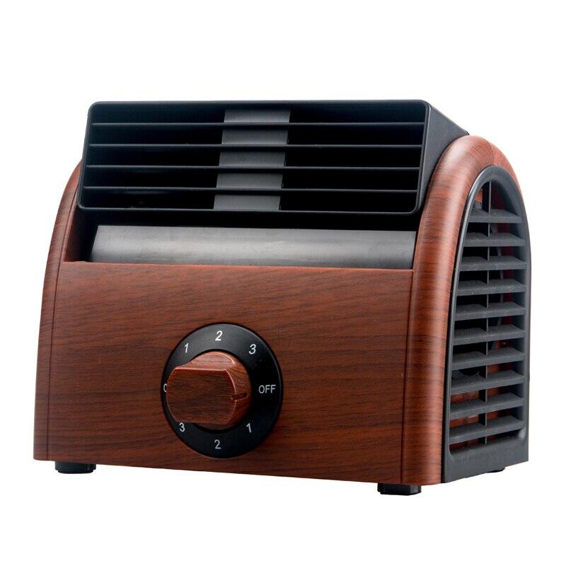 Ventilateur Portable climatiseur Portable petit ventilateur boîte ventilateur refroidisseur d'air Mini-ventilateur silencieux maison bureau sans feuille petit ventilateur 3 mètres fil