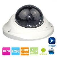 H.265 IP Camera Vandal proof Surveillance Video Dome Camera CCTV H.265 4MP 2MP IP Camera 1080P Indoor Camera DC 12V 48V PoE