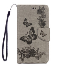 For LG Stylus 2 LG LS775 Emboss Pu Leather Case flip cover Wallet phone bag Stand with card slot sling for LG LS 775 shell case