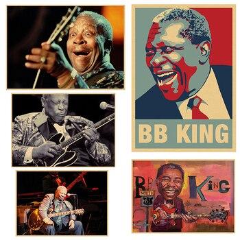Cartel Vintage B.B.KING Kraft retro nostalgia rock, cartel antiguo del guitarrista Bruce...