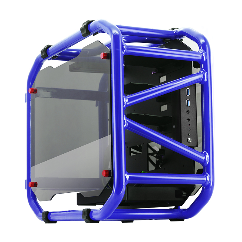 MATX computer case skeleton tempered glass aluminum open water-cooled game chassis computer case