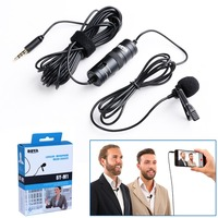 BOYA Lavalier Omnidirectional Condenser Microphone For Canon For IPhone 7 6s Plus DSLR Camcorder Audio Recorders