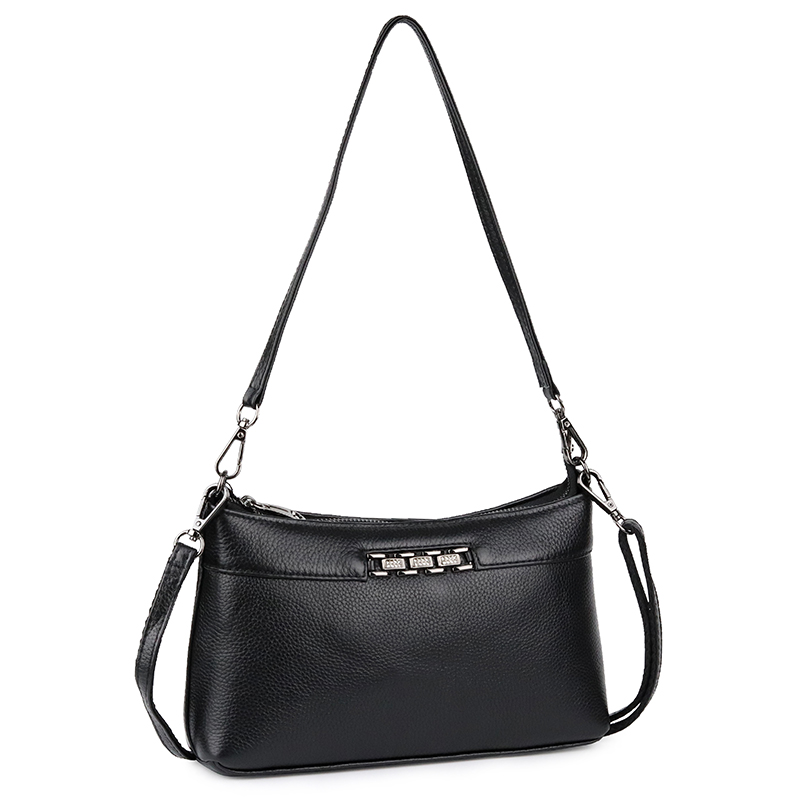 COMFORSKIN Premium Cowhide New Luxury Handbag Women 39 s Messenger Bags Sequined Style Cross body Bags High Capacity Shoulder Bags in Top Handle Bags from Luggage amp Bags
