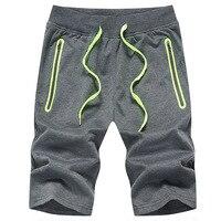 CALOFE 2017 Plus Size Summer Running Shorts Men Sport Bottoms Drawstring Beachwear Jogger Zippered Pocket Fitness