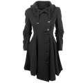 Burderry Time-limited Direct Selling Cotton Burderry Women Trench Coat For Women 2017 Turn-down Collar Irregular Coat Casual
