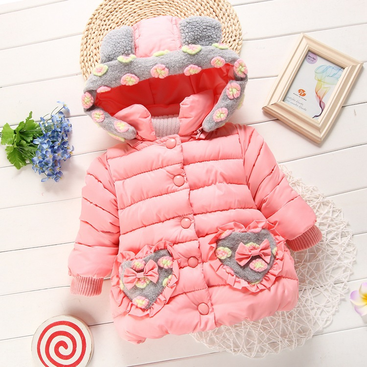 Han edition baby clothes girl warm winter cotton-padded clothes thickening cotton-padded clothes children hooded winter jacket children winter coats jacket baby boys warm outerwear thickening outdoors kids snow proof coat parkas cotton padded clothes