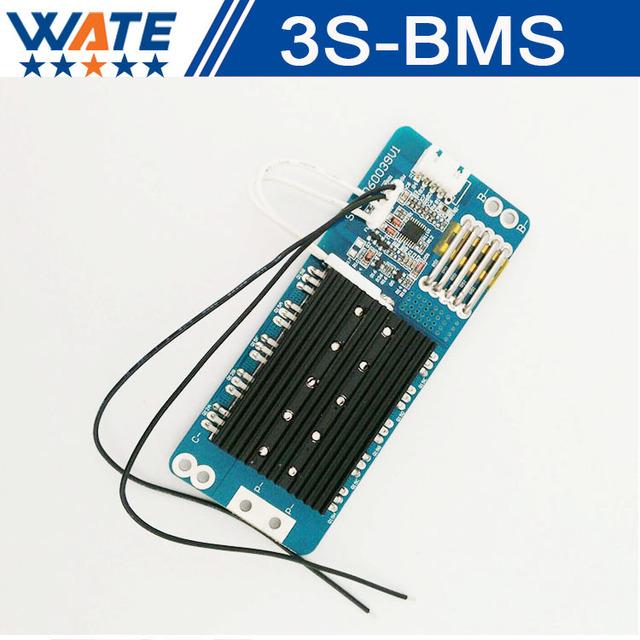 Frete grátis 3 S Placa de Proteção Da Bateria 50A BMS PCB PCM Circuito de Proteção Para 11.1 V Li-ion Célula de Bateria de lítio Pack