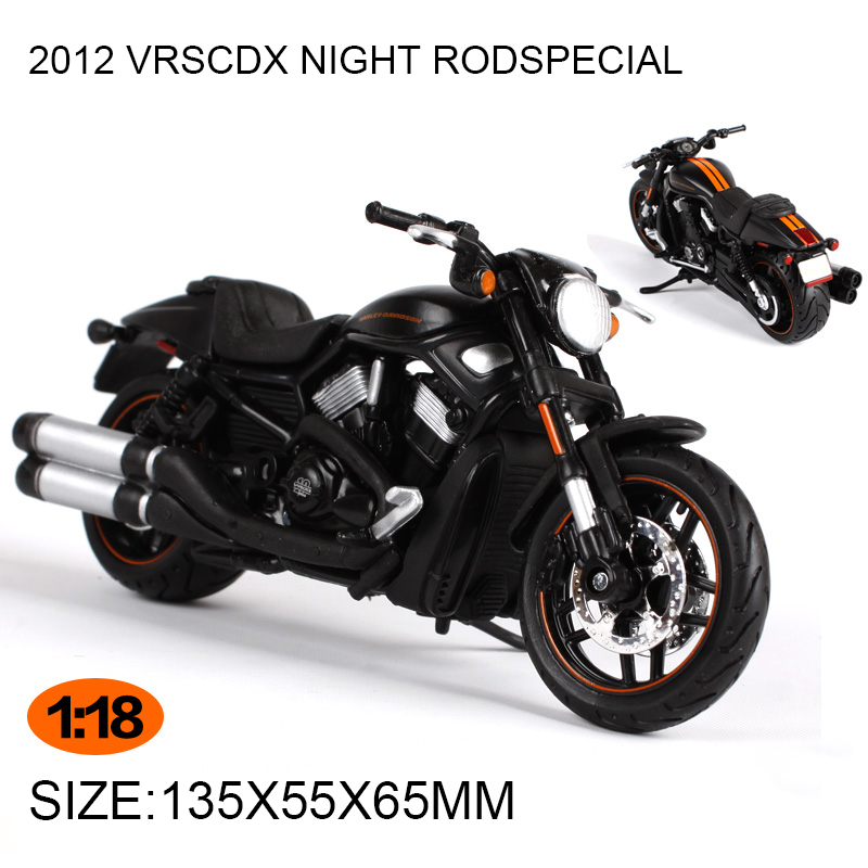 Motorcycle Models HD 2012 VRSCDX NIGHT RODSPECIAL 1999 FLHR ROAD KING 1:18 scale Alloy Heavy motorcycle model Collection Gifts