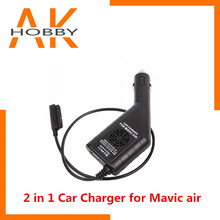 2 in 1 Car Charger for DJI Mavic Air Drone Remote C