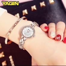 YAQIN Ladies Fashion Bracelet Quartz Watch Rose Gold Diamond Women Watches Top Brand Luxury Watch Steel reloj mujer