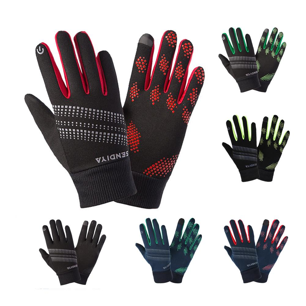 Ski Protective Gloves Winter Touch Screen Cycling Gloves Women Men Warm Stretch Knit Mittens Full Finger Guantes Windproof Warm