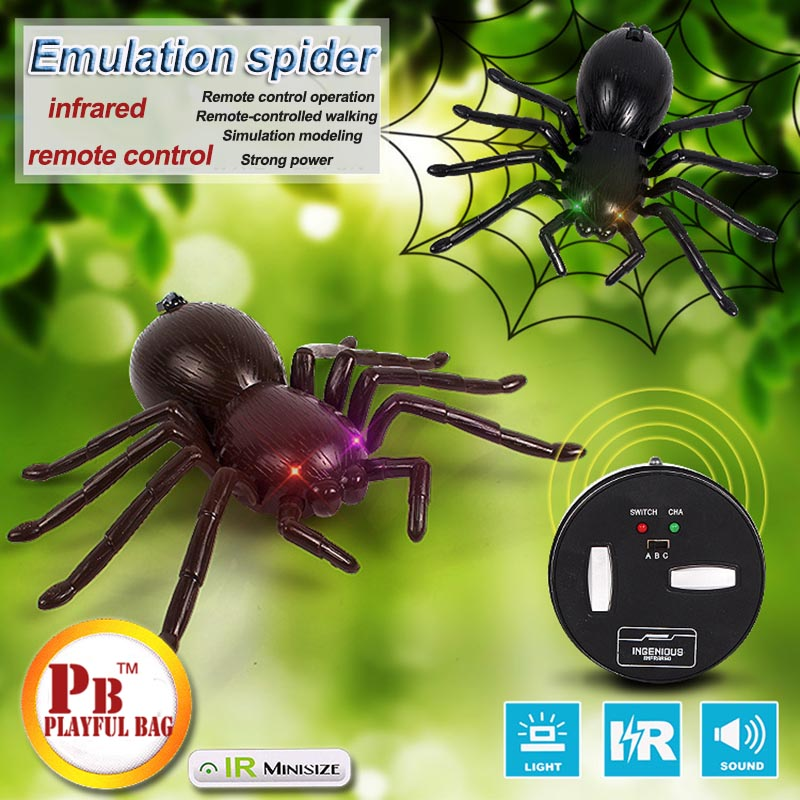 2018 New Genuine Tricky Creative Remote Spider Electronic Pet Animal Model Simulation Puzzle Toys Children's Boys And Girls Toys