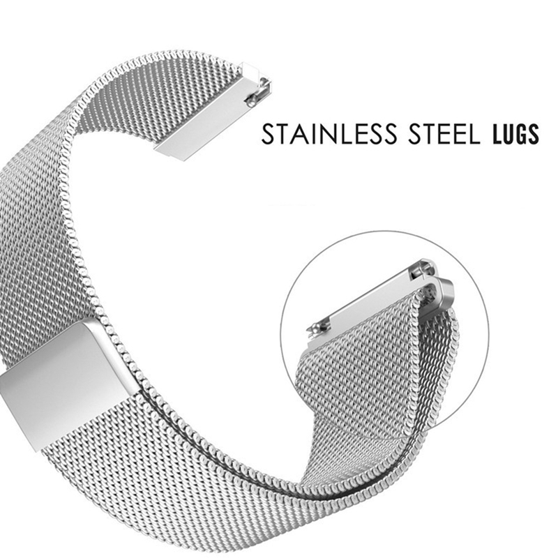 Metal Milanese Loop Band for Xiaomi Huami AMAZFIT Bip strap 20MM 22MM wrist band for Amazfit GTR 47 47MM Strap Stratos 2 2s Pace in Smart Accessories from Consumer Electronics