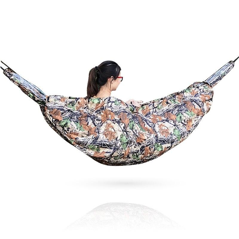 Hammock Sleep Bag Lightweight Full Length Hammock Underquilt Under Blanket 40 F to 68 F (5 C to 20 C) Camouflage & Army Green Hammocks     - title=