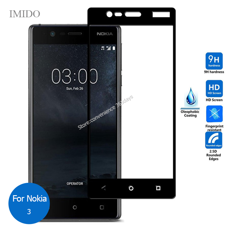 For <font><b>Nokia</b></font> <font><b>3</b></font> Full Cover Front Tempered Glass Screen Protector 2.5 9H All Body Protective Glass On Nokia3 TA 1020 <font><b>1028</b></font> 1032 1038 image