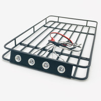 1Set Metal Luggage Rack 235*140*00mm Roof Rack Roof Rail with Light Cable for RC Redcat GEN8 Model Car DIY Parts