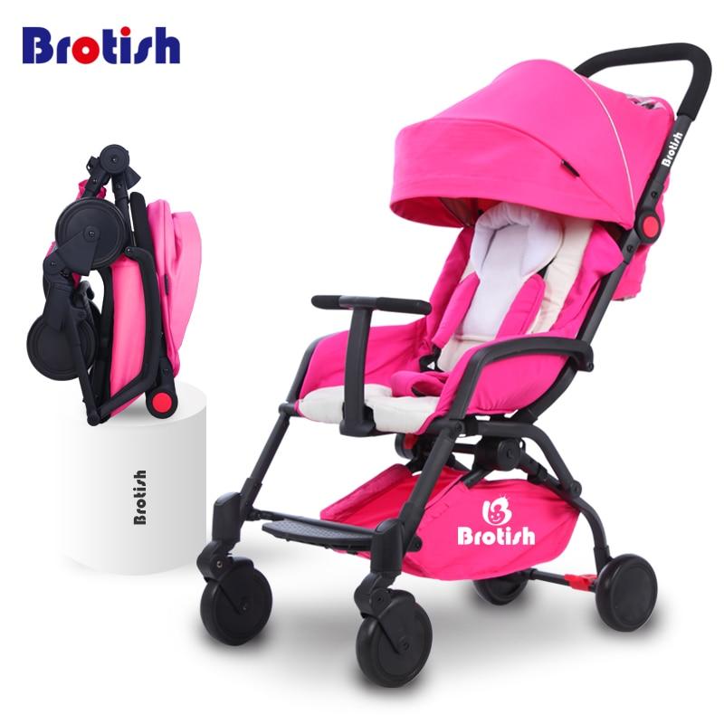 Baby stroller umbrella car light ultra-light portable child trolley