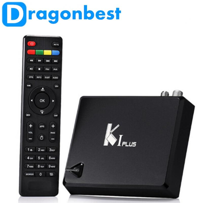 ФОТО 10pcs Original KI PLUS +T2 S2 Amlogic S905 Quad core 64-bit Support DVB-T2 DVB-S2 1G/8G 1080p 4K Android 5.1 K1 plus DVB TV Box