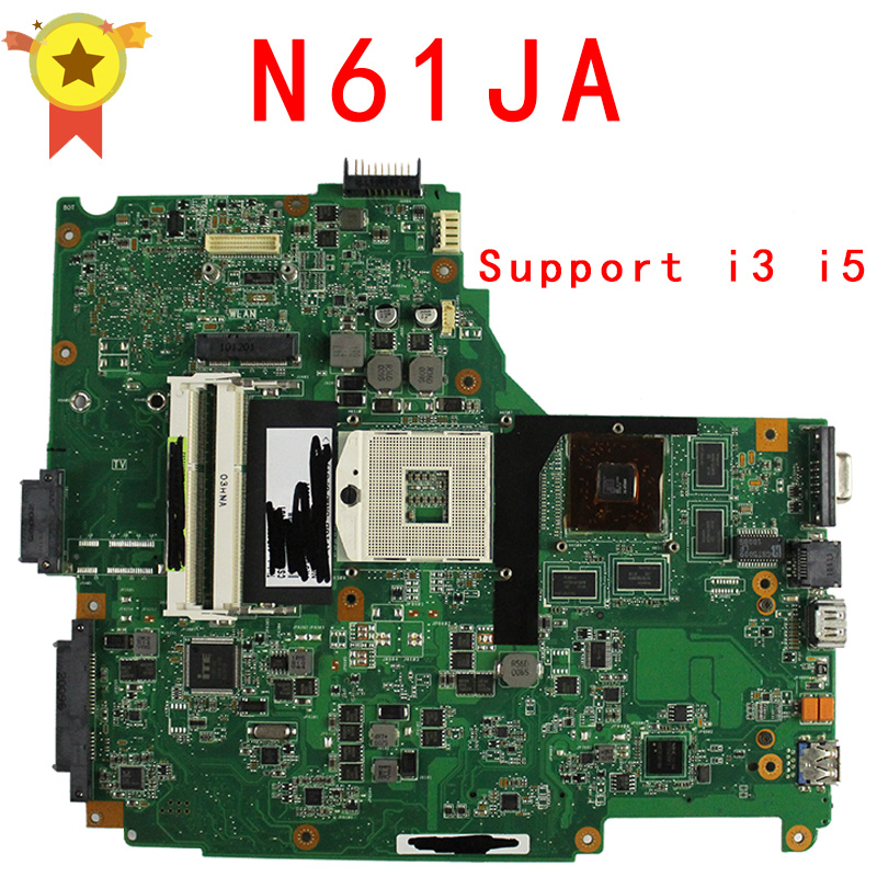 free shipping for ASUS N61JA laptop motherboard mainboard N61JA  support i3 I5 cpu 100% Tested & Guaranteed free shipping laptop motherboard for asus g60vx series mainboard system board
