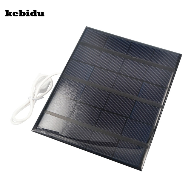 kebidu 2016 Portable Dual USB Solar Panel Battery Charger 5V 3.6W 500mA for Power Bank Supply with LED Light Fasion Travelling