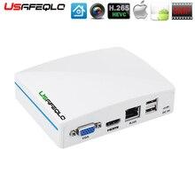 USAFEQLO Super Mini enregistreur CCTV en NVR, 8CH 16ch, pour caméra H.265 1080P/5mp Onvif IP, Cloud P2P,eSATA/TF/USB, télécommande